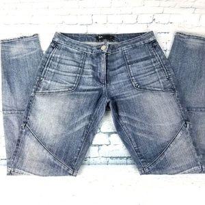 3x1 W1 Womens Low Rise Biker Pant Mott Skinny Jean